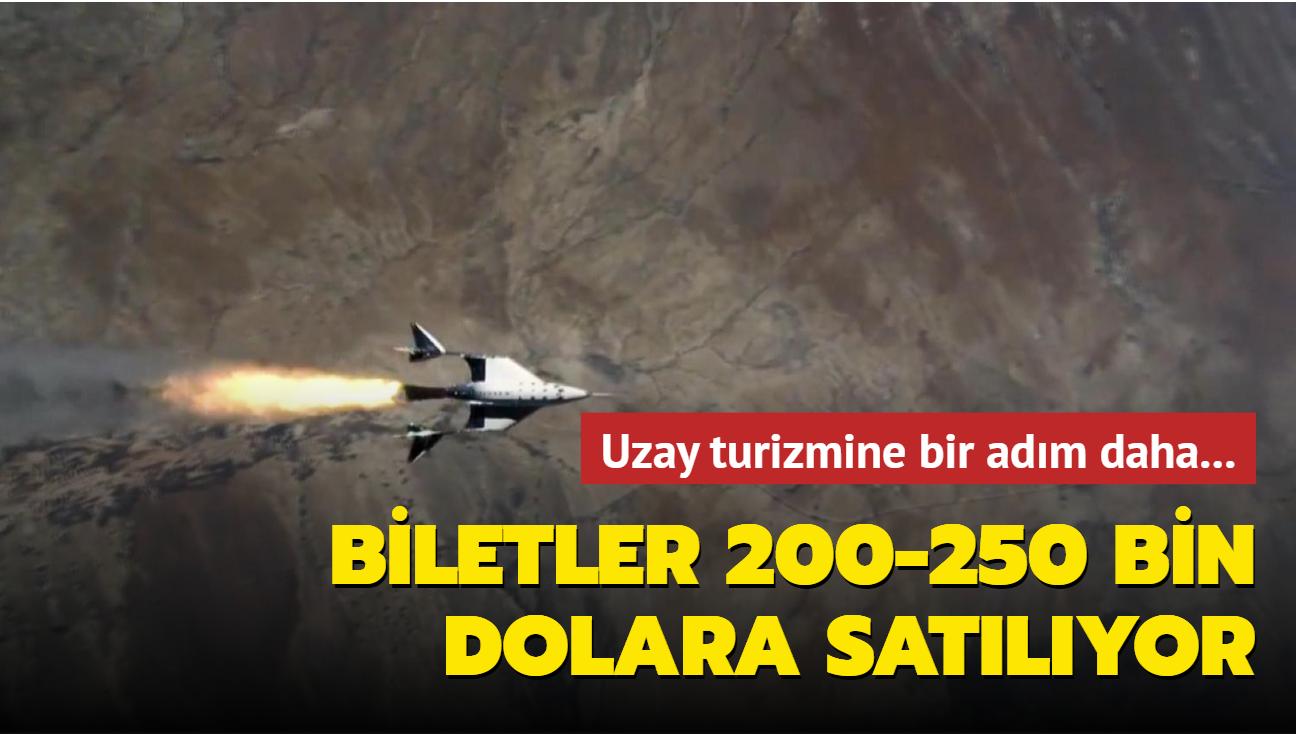Uzay turizmine bir adım daha: Biletler 200-250 bin dolara satılıyor