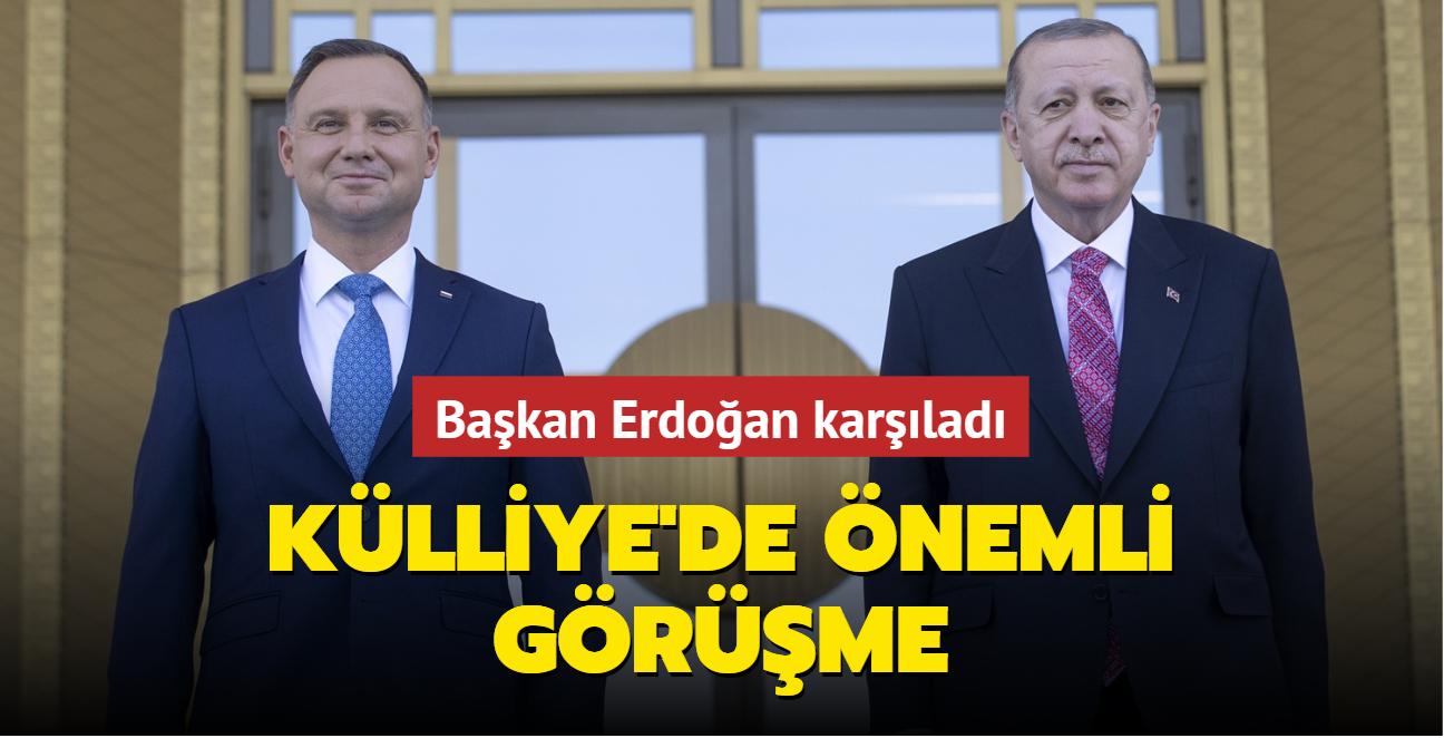 Başkan Erdoğan Polonya Cumhurbaşkanı Duda'yı kabul etti