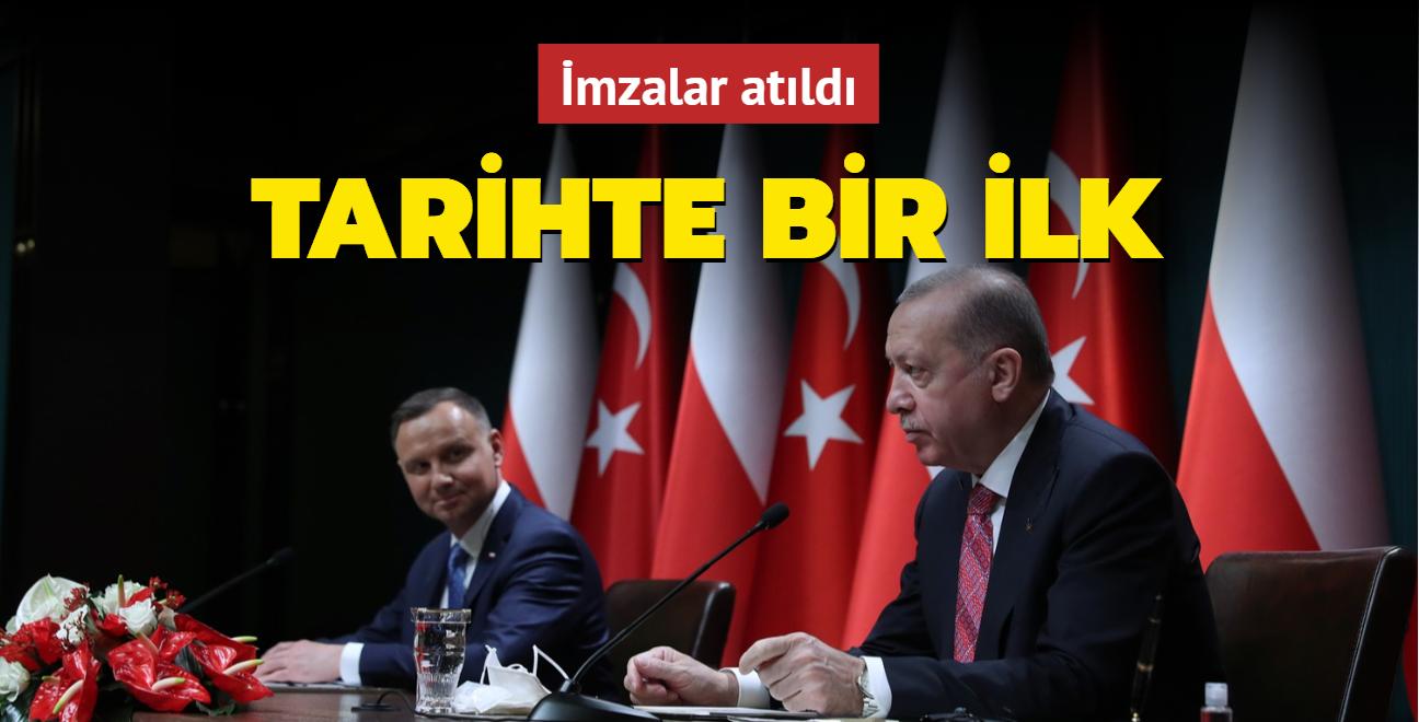Başkan Erdoğan Polonyalı mevkidaşı ile ortak basın toplantısı düzenledi