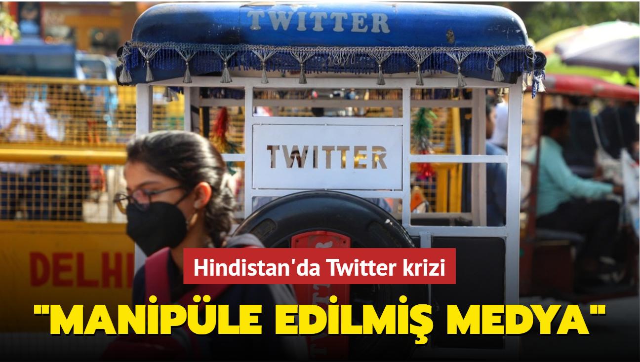 "Hindistan'da Twitter krizi... ""Manipüle edilmiş medya"""