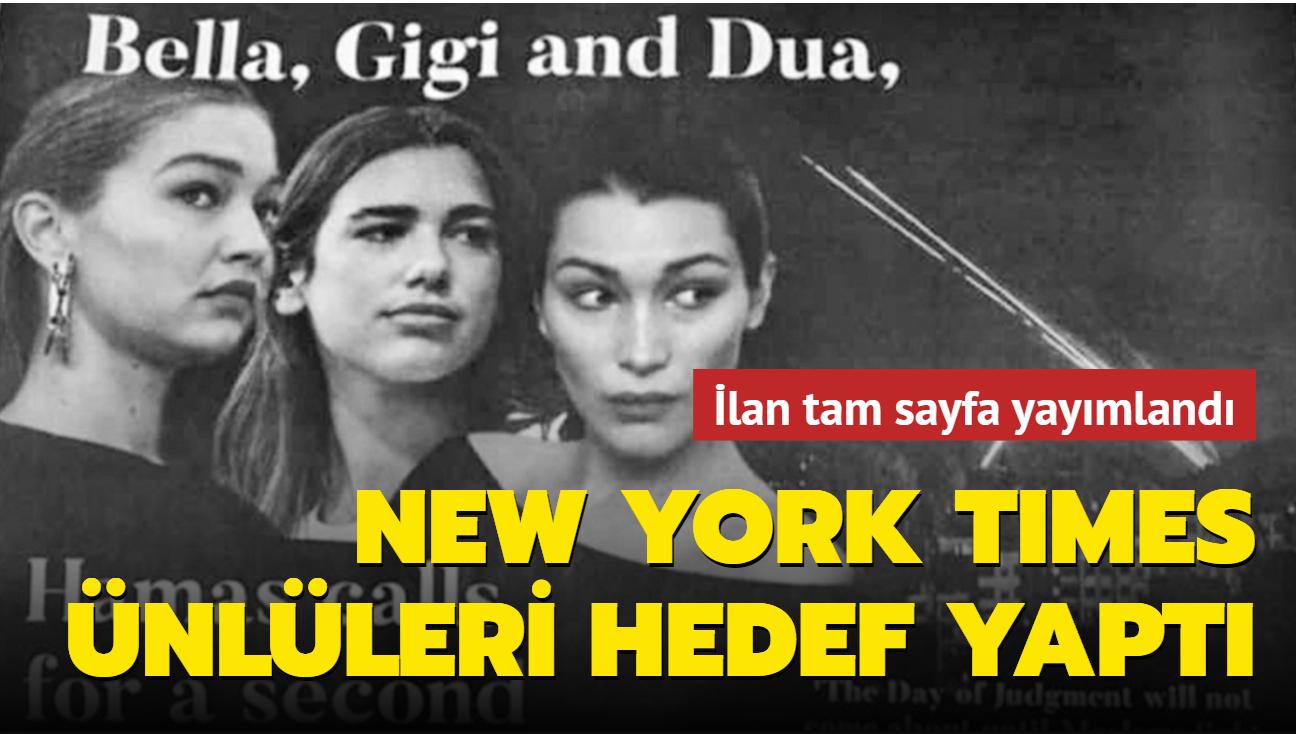 New York Times ilanla hedef gösterdi