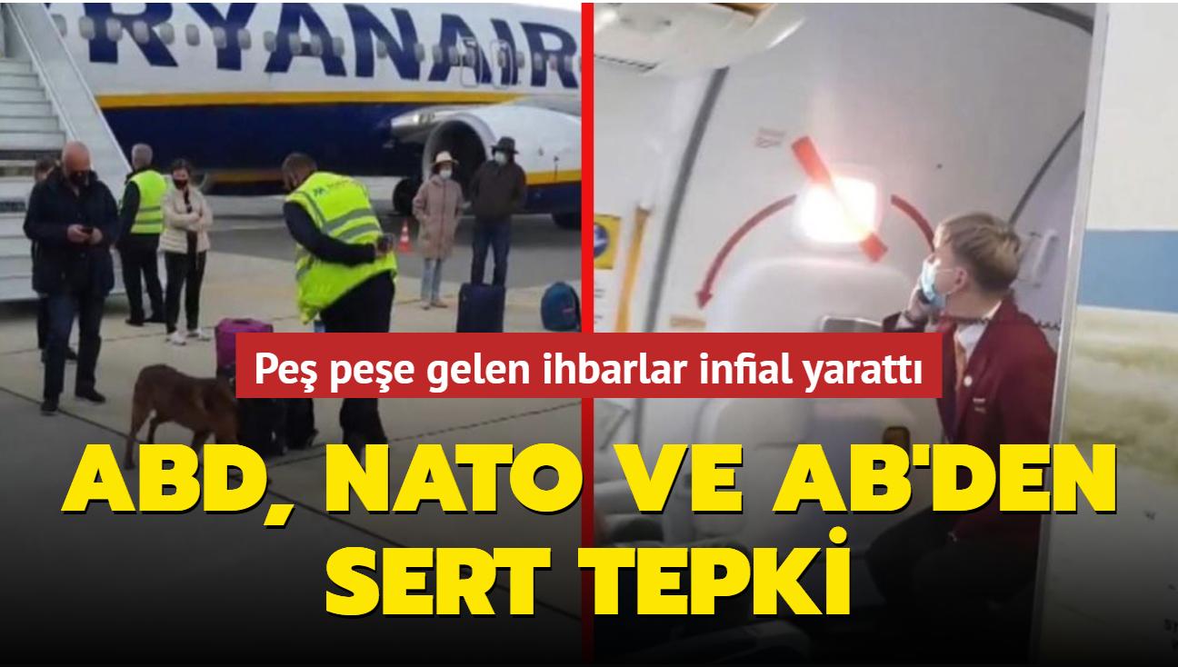 Belarus'ta bir yolcu uçağına daha bomba ihbarı yapıldı