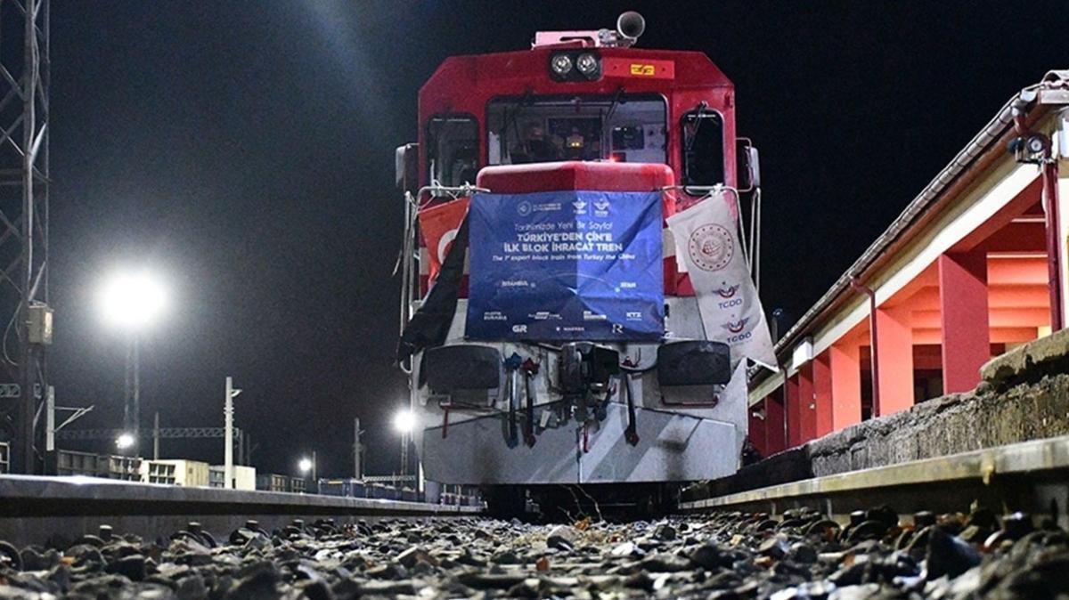 Çin'e giden 6. ve 7. ihracat trenleri yola çıktı