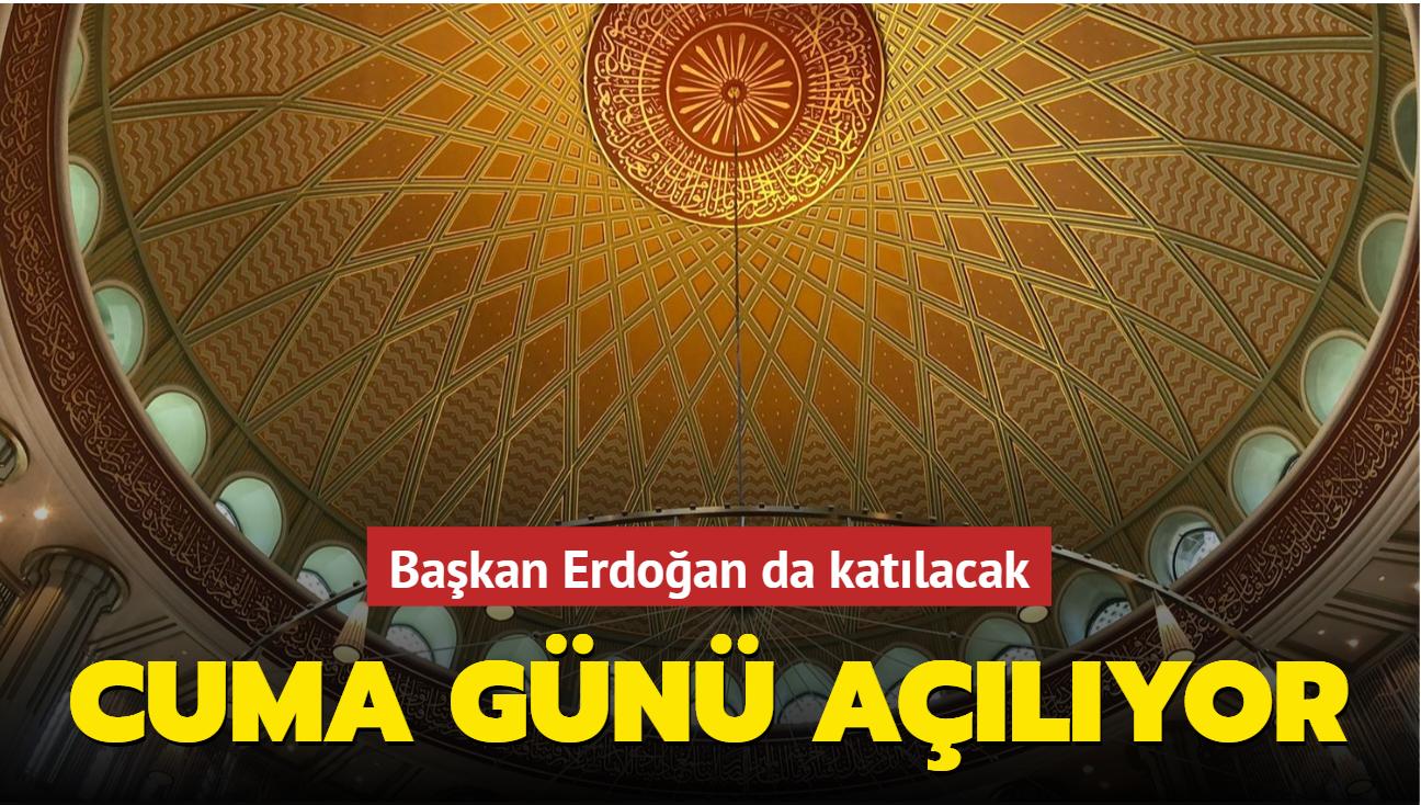 Taksim'deki cami Başkan Erdoğan'ın katılımıyla cuma günü açılacak