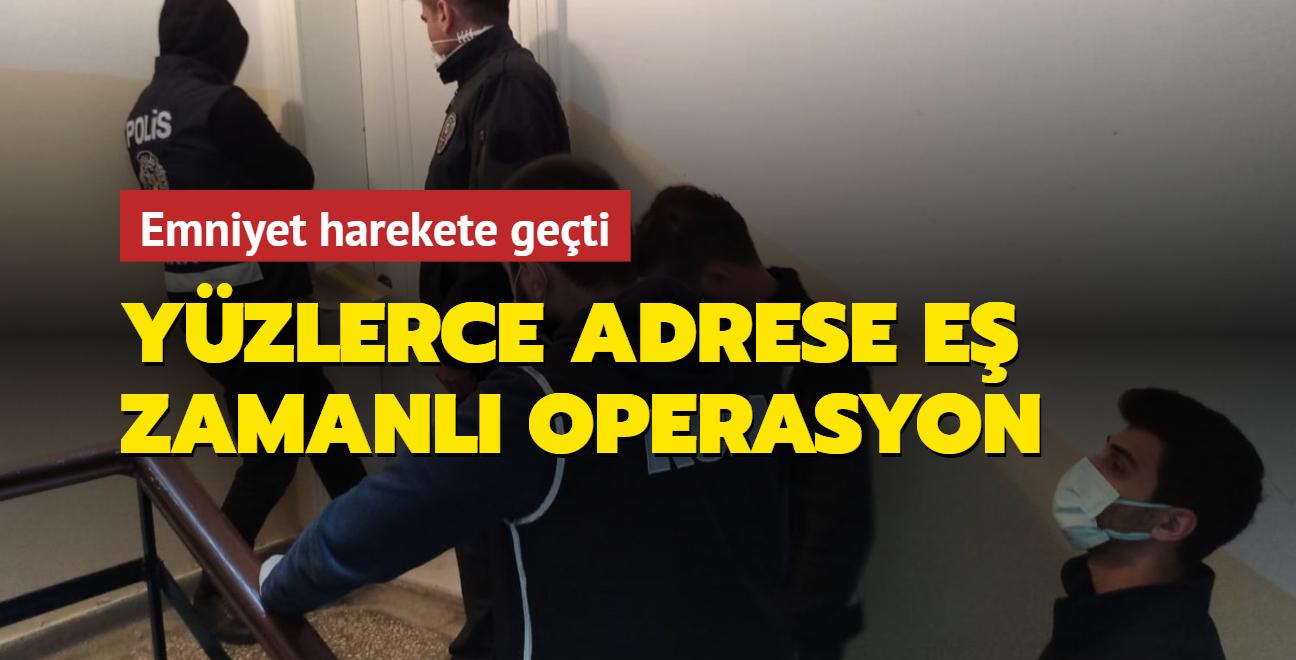 Emniyet Genel Müdürlüğü açıkladı: 574 kişi için 59 ilde dev operasyon