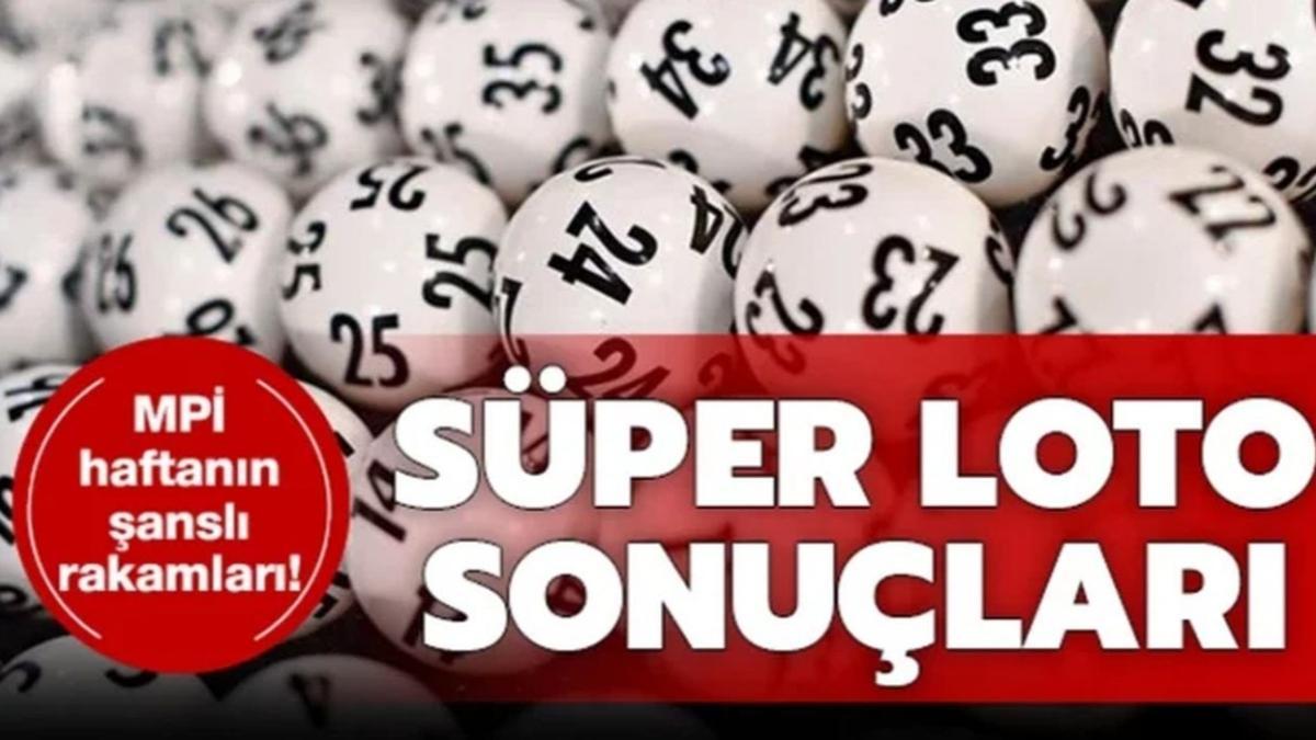Süper Loto çekilişi sonuçları MPİ bilet sorgula: Süper Loto çekiliş 25 Mayıs sonuçları kazandıran numaralar belli oldu!