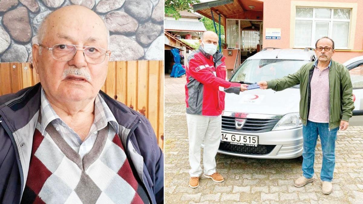 Ölmeden arabasını Kızılay'a bağışladı