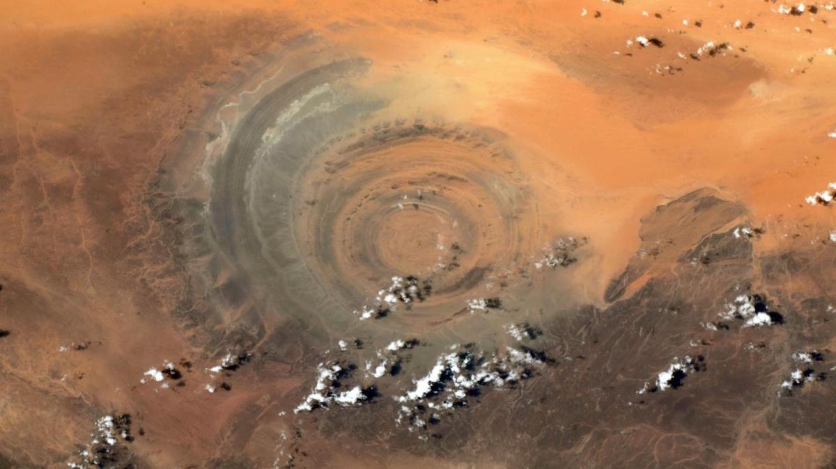 Sahra Çölü'nün uzaydan görünümü paylaşıldı