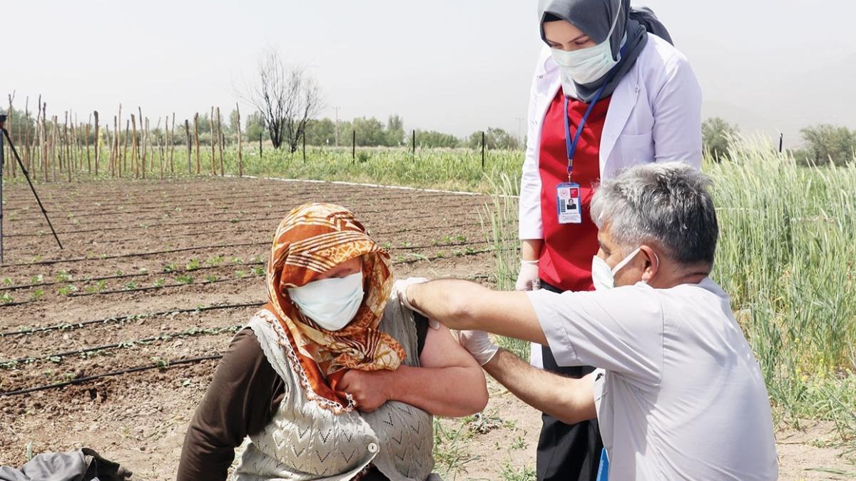 Tarlaya aşı ekibi