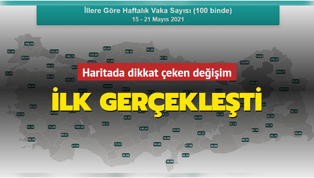 """Vaka haritasında Antalya ilk kez """"sarı"""" oldu"""