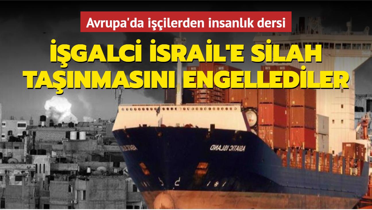 İtalyan işçiler İsrail'e silah gönderimini engelledi