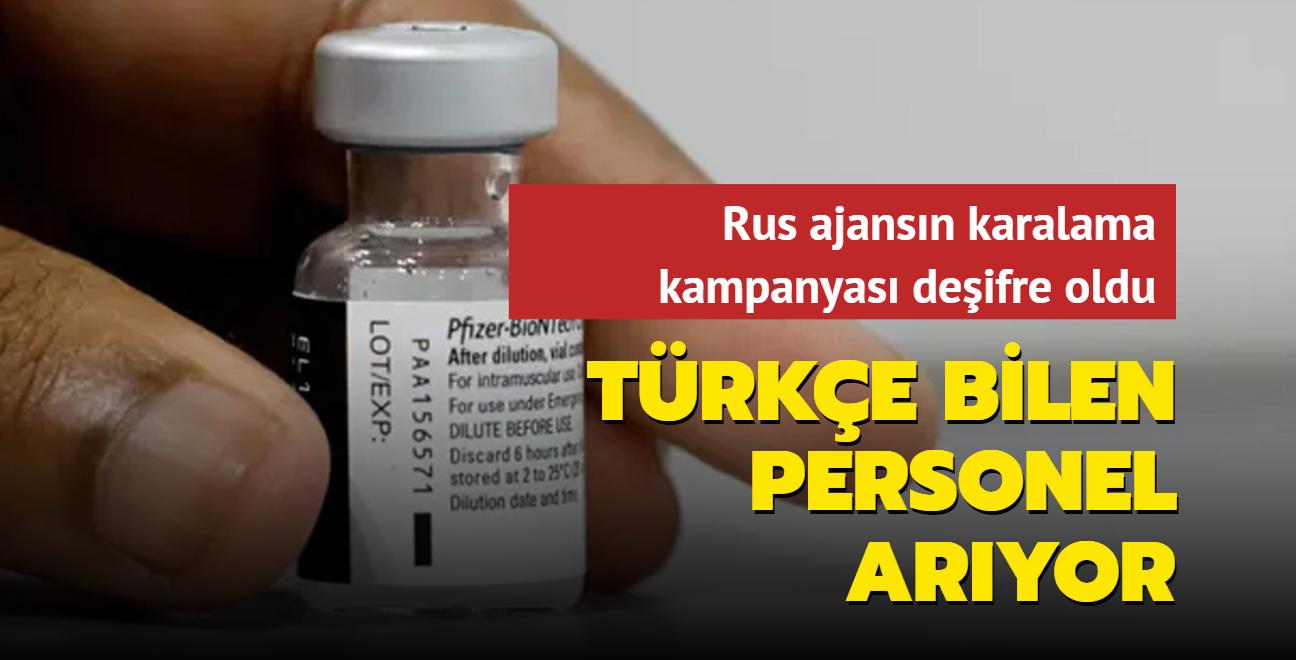 Rus ajansın karalama kampanyası deşifre oldu! Türkleri hedef almak için Türkçe bilen personel arıyor