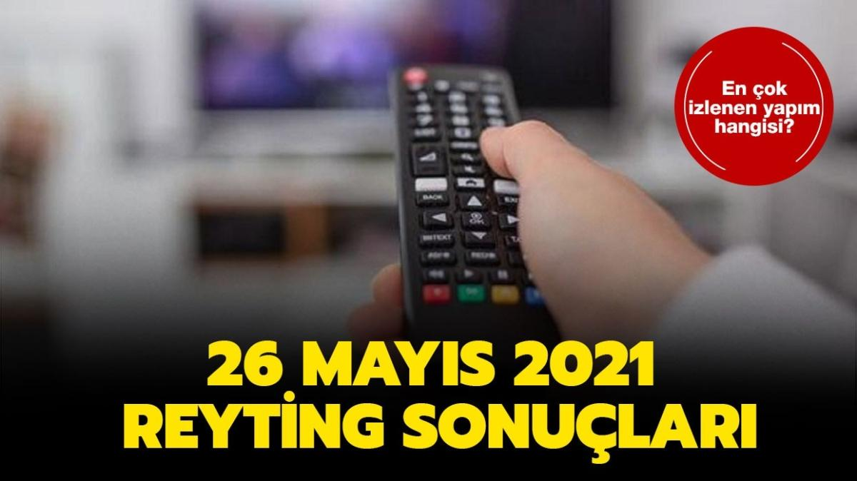 """26 Mayıs 2021 reyting sonuçları! Dün en çok ne izlendi"""""""