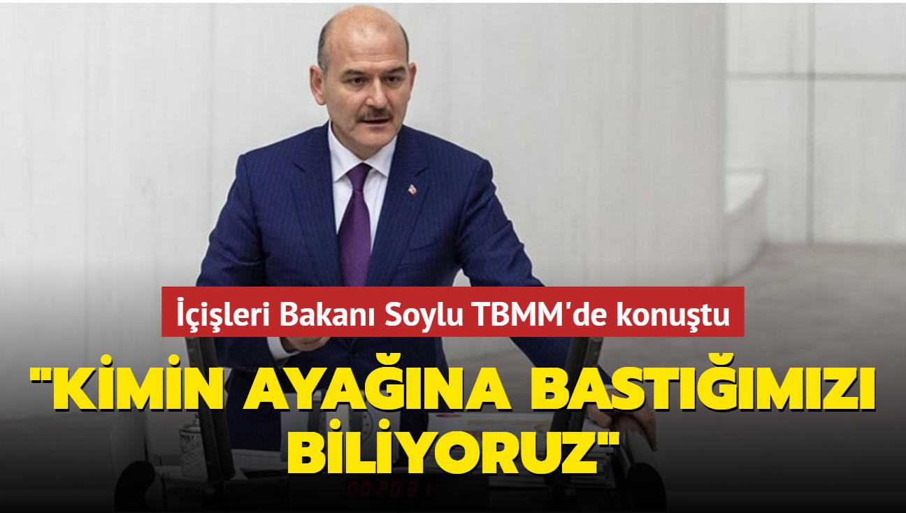 """İçişleri Bakanı Soylu TBMM'de konuştu: """"Uyuşturucuyla mücadelede kimin ayağına bastığımızı biliyoruz"""""""