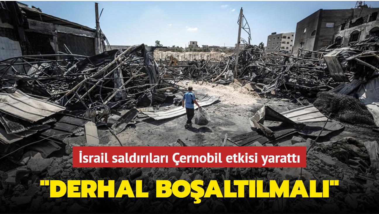 """İşgalci İsrail'in saldırılarına maruz kalan Gazze'de """"çevre felaketi"""" uyarısı yapıldı"""