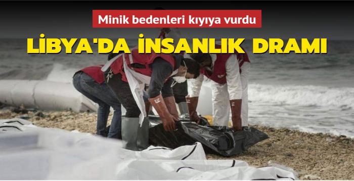Minik bedenleri kıyıya vurdu... Libya'da insanlık dramı