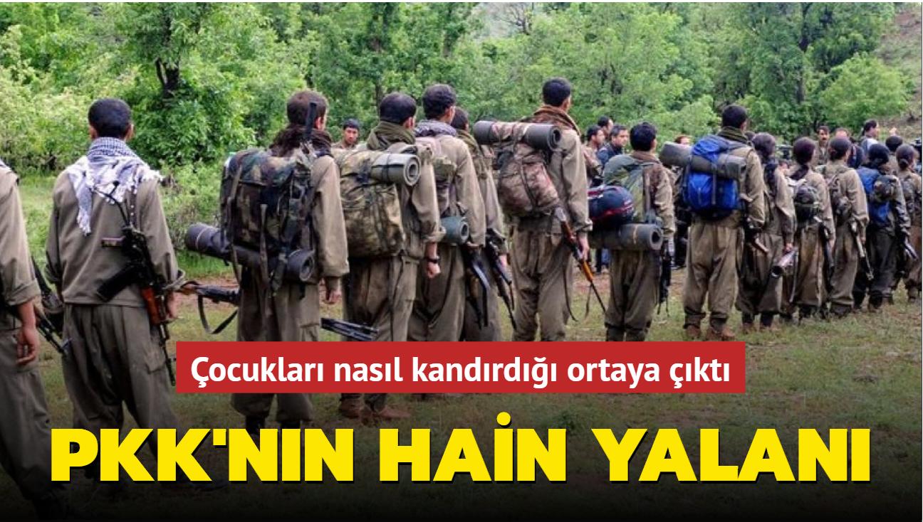 PKK'nın çocukları zengin olma vaadiyle kandırdığı emniyet raporunda