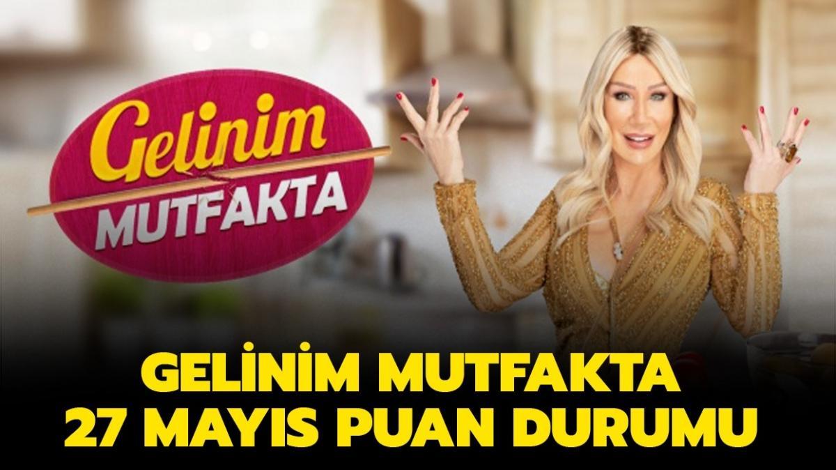 """Dün Gelinim Mutfakta'da gün birincisi kim seçildi"""" Gelinim Mutfakta 27 Mayıs puan durumu"""