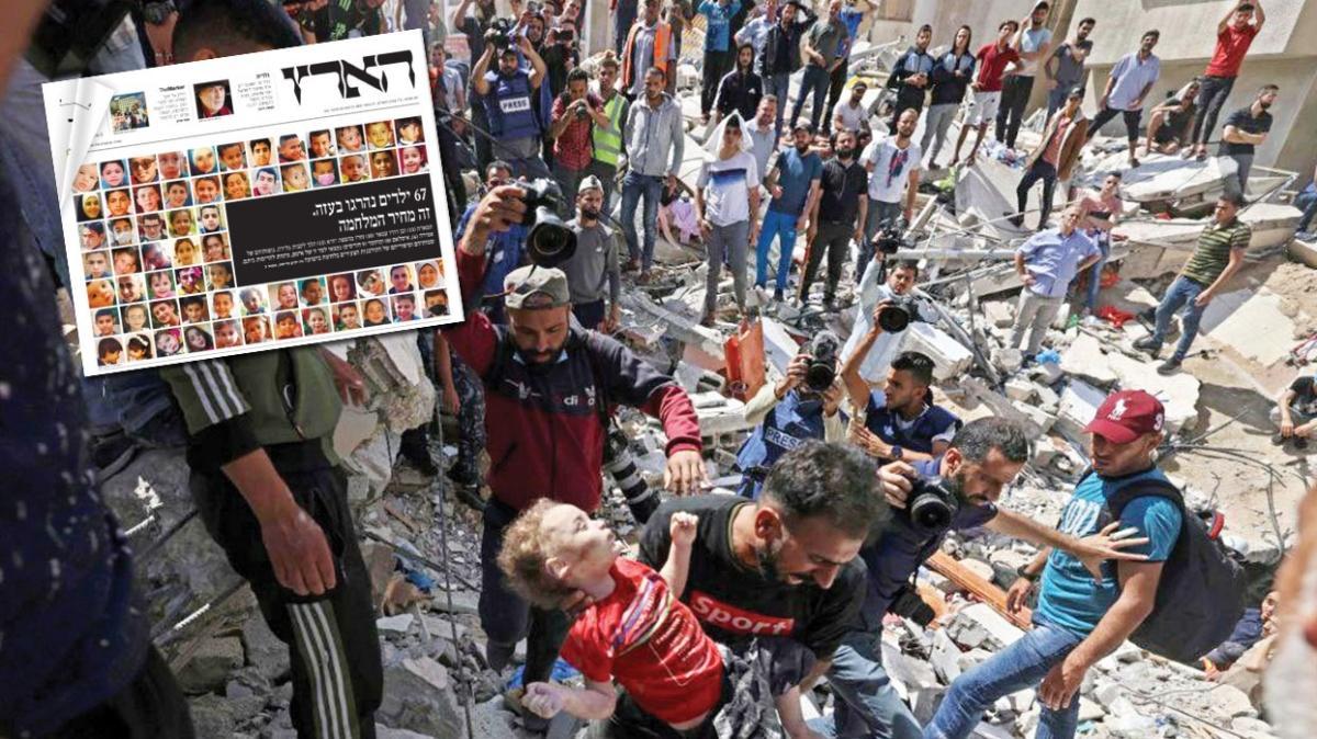 Şehit 67 Filistinli çocuk manşette! İsrail medyası 'günah çıkarıyor'