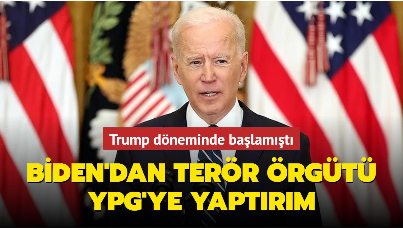 Trump döneminde başlamıştı... Biden'dan terör örgütü YPG'ye yaptırım
