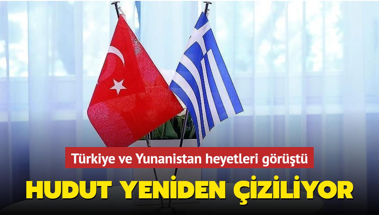 Türkiye ve Yunanistan heyetleri görüştü... Hudut yeniden çiziliyor