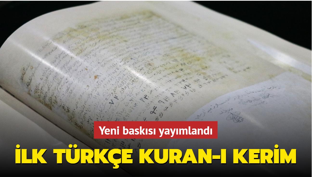 Bin yıl önce ilk kez Türkçe'ye çevrilen Kuran-ı Kerim