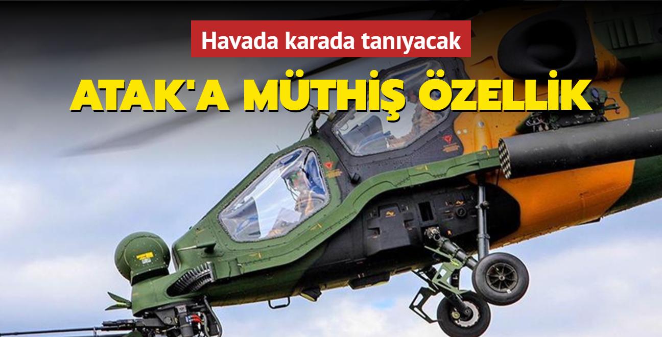 Atak helikopteri, ASELSAN'ın ürettiği cihazla dostu düşmanı ayırt edecek