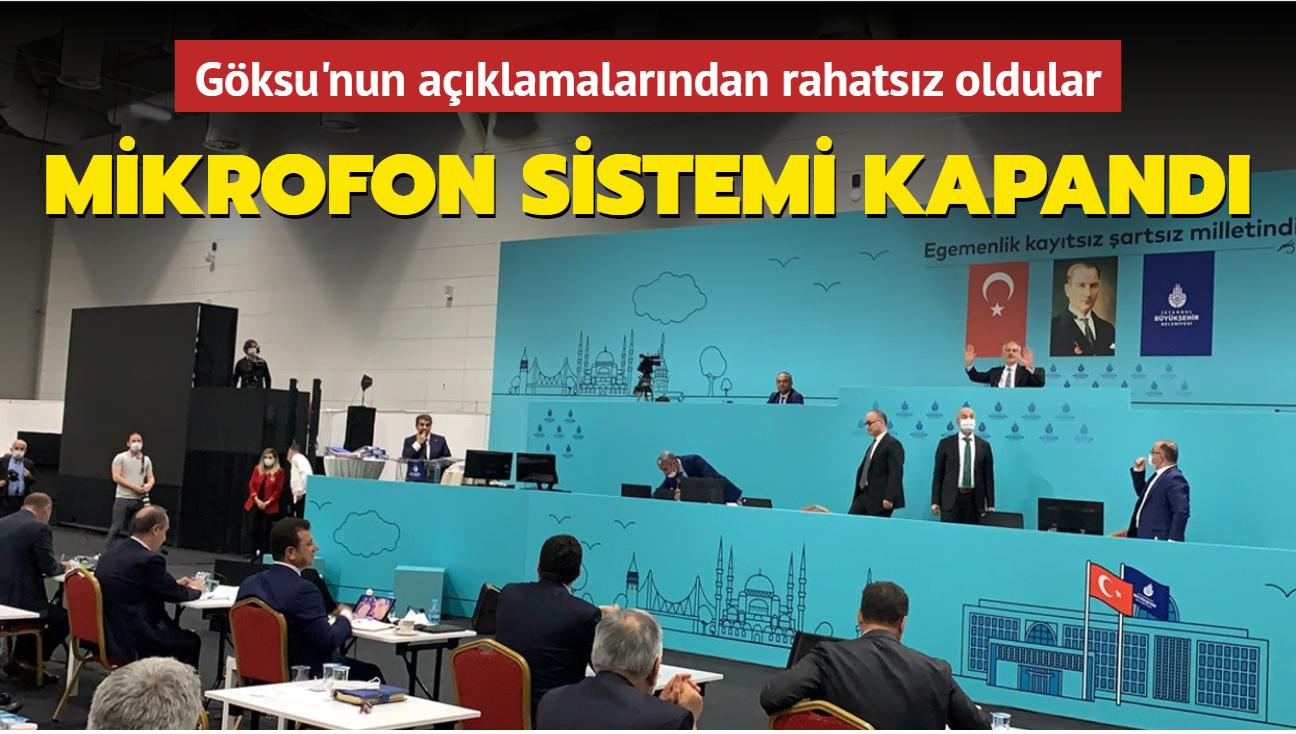 İBB AK Parti Grup Başkanvekili Tevfik Göksu'nun mikrofon sistemi kapandı