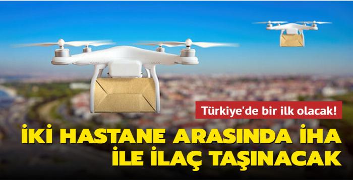 Kadıköy'de iki hastane arasında İHA ile ilaç taşınacak