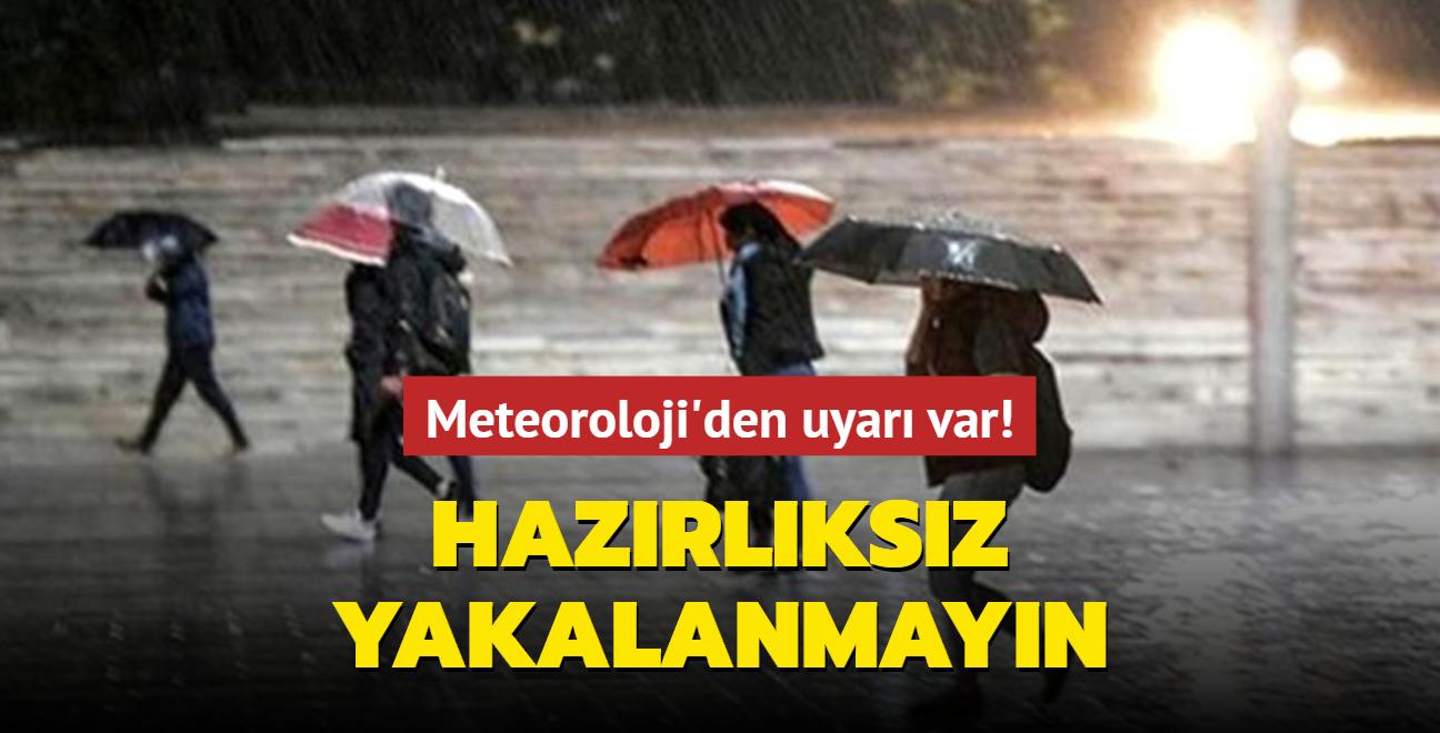 Meteoroloji uyardı: Gök gürültülü sağanak yağış geliyor
