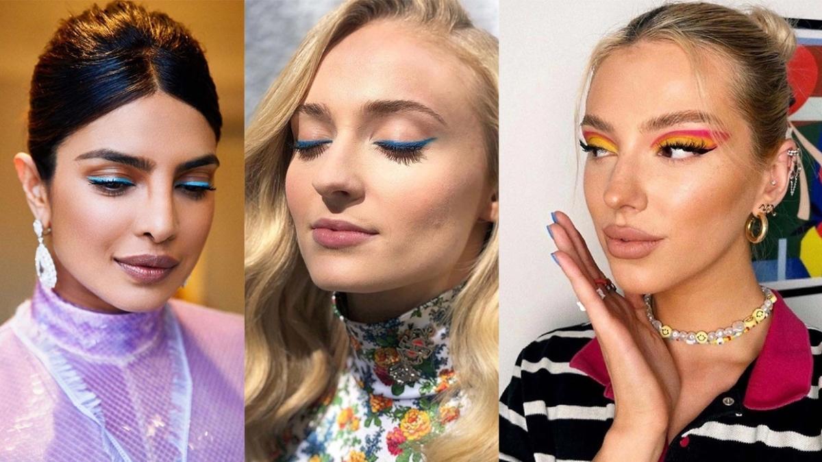 2021'in göz makyajı trendi: Renkli eyeliner