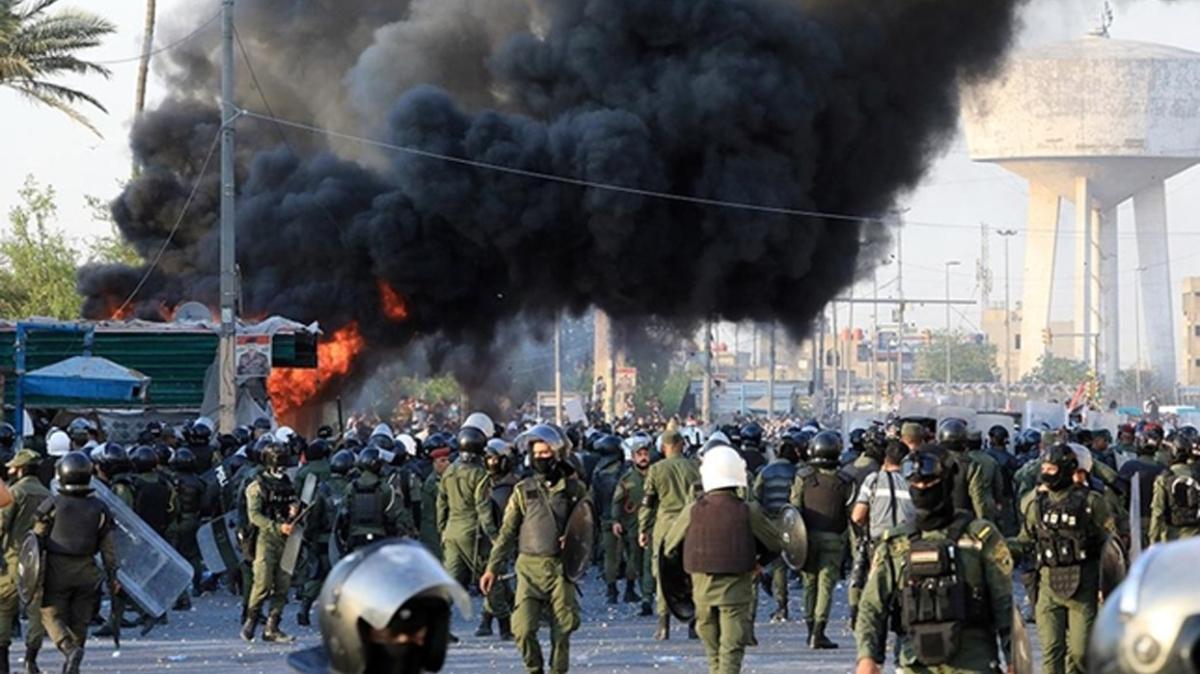 ABD, Irak'ta hükümete karşı düzenlenen protestolarda şiddete başvurulmasına tepki gösterdi