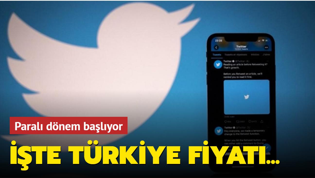 Twitter'ın yeni ücretli abonelik özelliği Twitter Blue'nun Türkiye fiyatı belli oldu