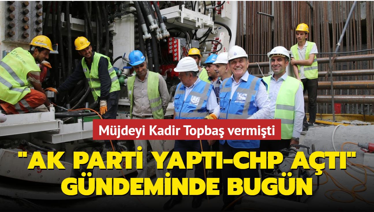 """""""AK Parti yaptı-CHP açtı"""" gündeminde bugün... Ataköy-İkitelli metro hattında 2 durak açıldı"""