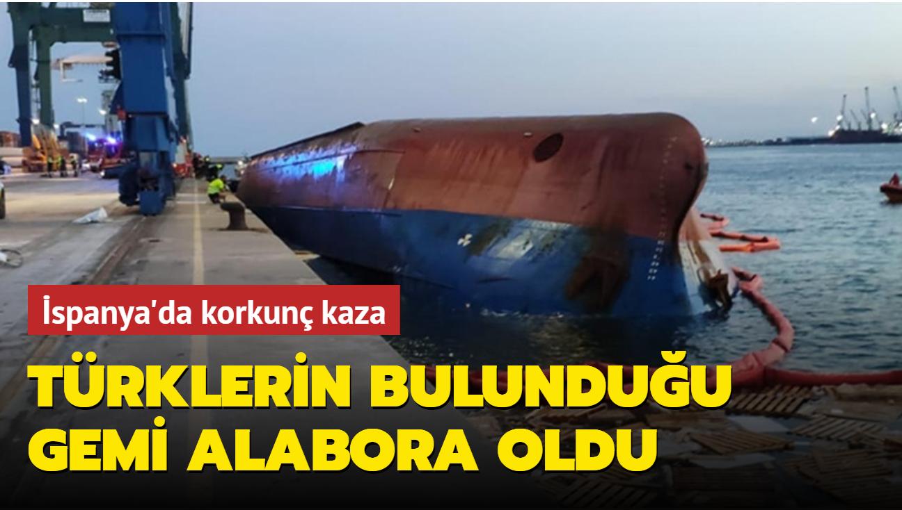 İspanya'da 5 Türk'ün de bulunduğu gemi alabora oldu