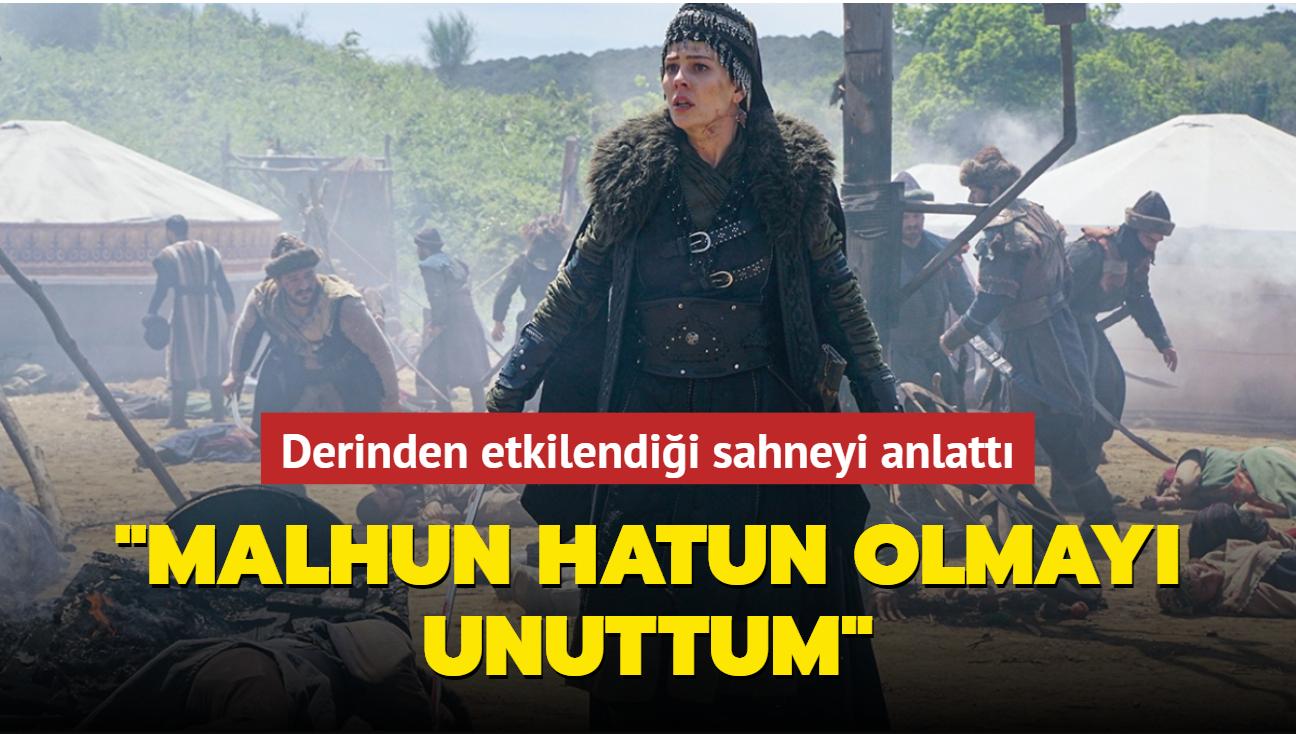 Kuruluş Osman'ın Malhun Hatun'u Yıldız Çağrı Atiksoy derinden etkilendiği sahneyi anlattı: Malhun Hatun olmayı unuttum
