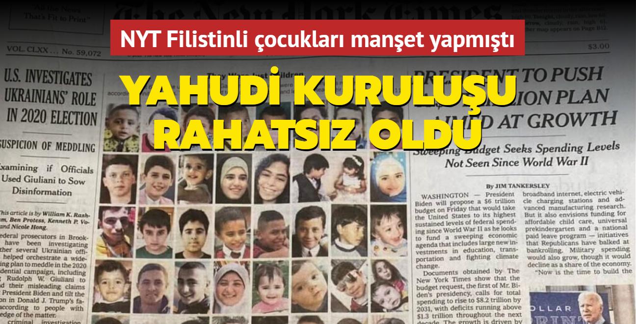 New York Times Filistinli çocukları manşet yapmıştı... Yahudi kuruluşu rahatsız oldu