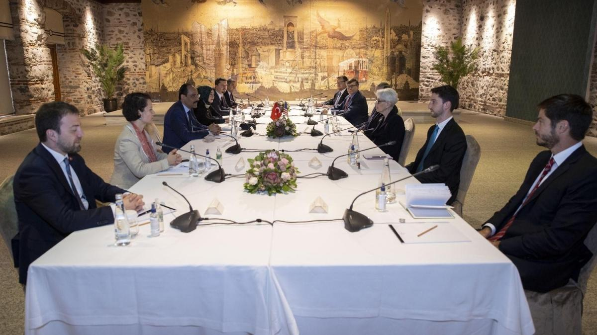 ABD Dışişleri Bakan Yardımcısı Sherman ile  Cumhurbaşkanlığı Sözcüsü İbrahim Kalın görüşme gerçekleştirdi