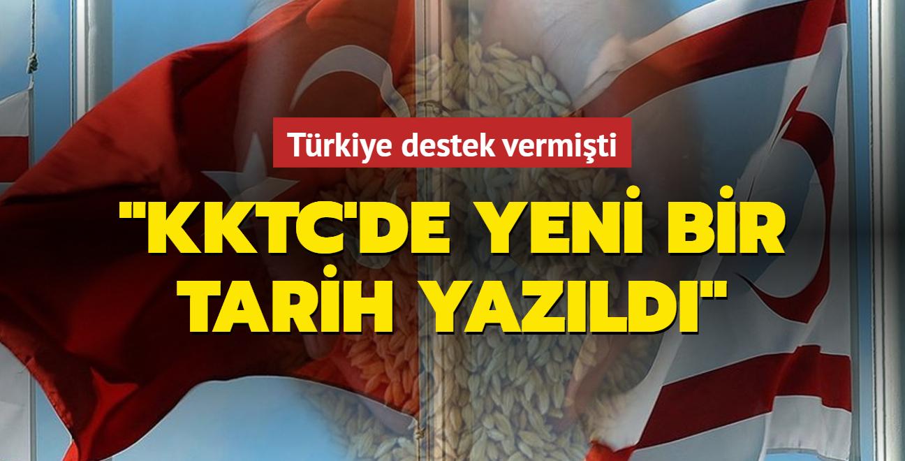 """Türkiye destek vermişti: """"KKTC'de yeni bir tarih yazıldı"""""""