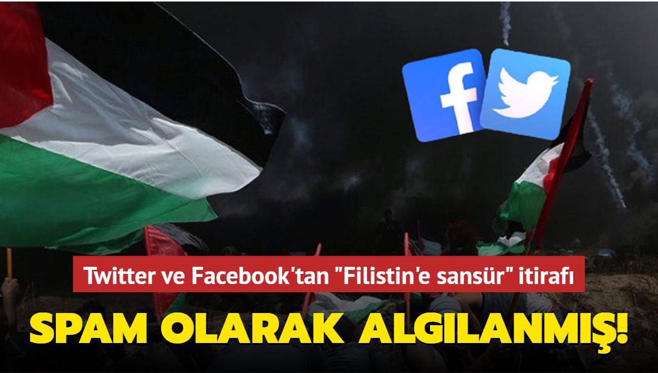 İsrail'in katliamlarına sansür uygulayan Twitter ve Facebook'tan itiraf