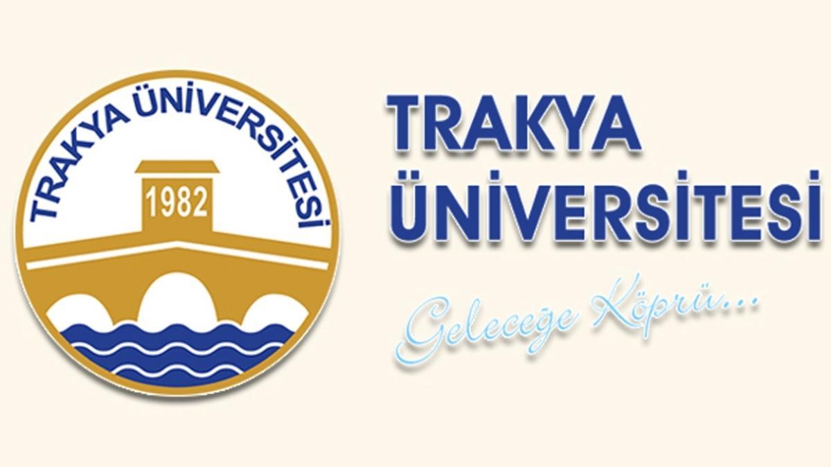 Trakya Üniversitesi 40 öğretim üyesi alımı yapıyor