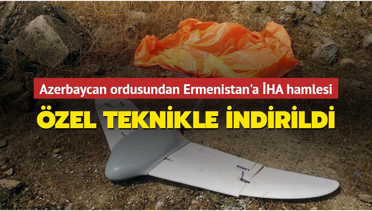 Azerbaycan ordusundan Ermenistan'a İHA hamlesi... Özel teknikle indirildi