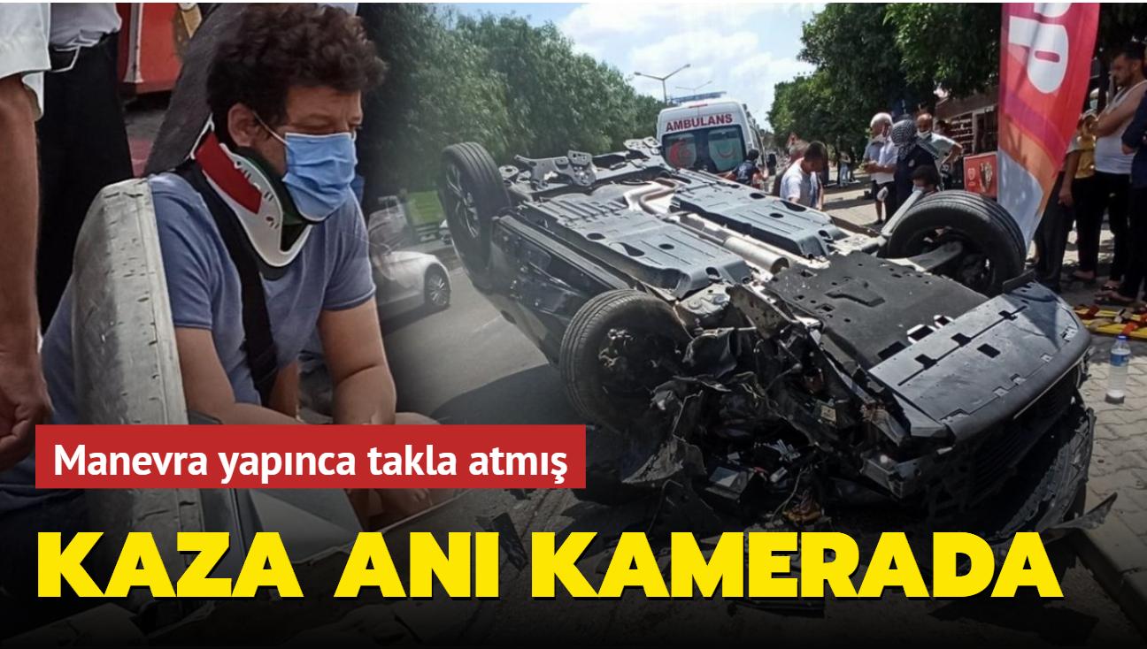 İlker Aksum'un kaza anına ait görüntüler ortaya çıktı! Meğer motosiklete çarpmamak için manevra yapınca takla atmış
