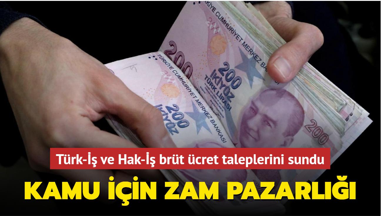 Kamu işçileri için zam pazarlığı başladı: Türk-İş ve Hak-İş brüt ücret taleplerini sundu