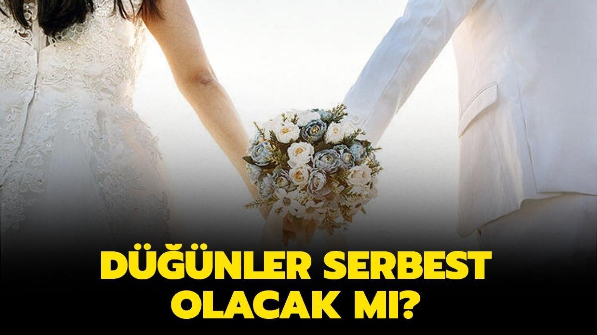 """1 Haziran'da düğünler ve nikahlar serbest mi, yasak kalktı mı"""" Düğünler ne zaman yapılacak"""""""