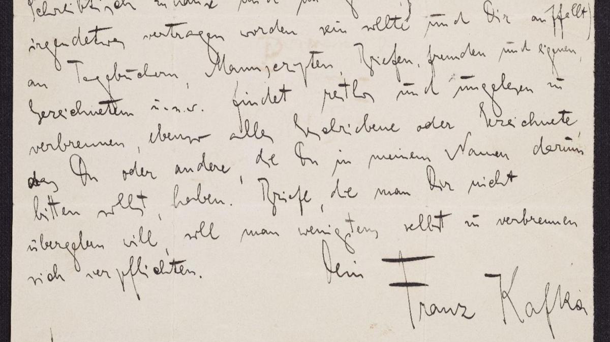 Franz Kafka'nın ölmeden önce yakılması için bıraktığı el yazmaları internette yayınlandı