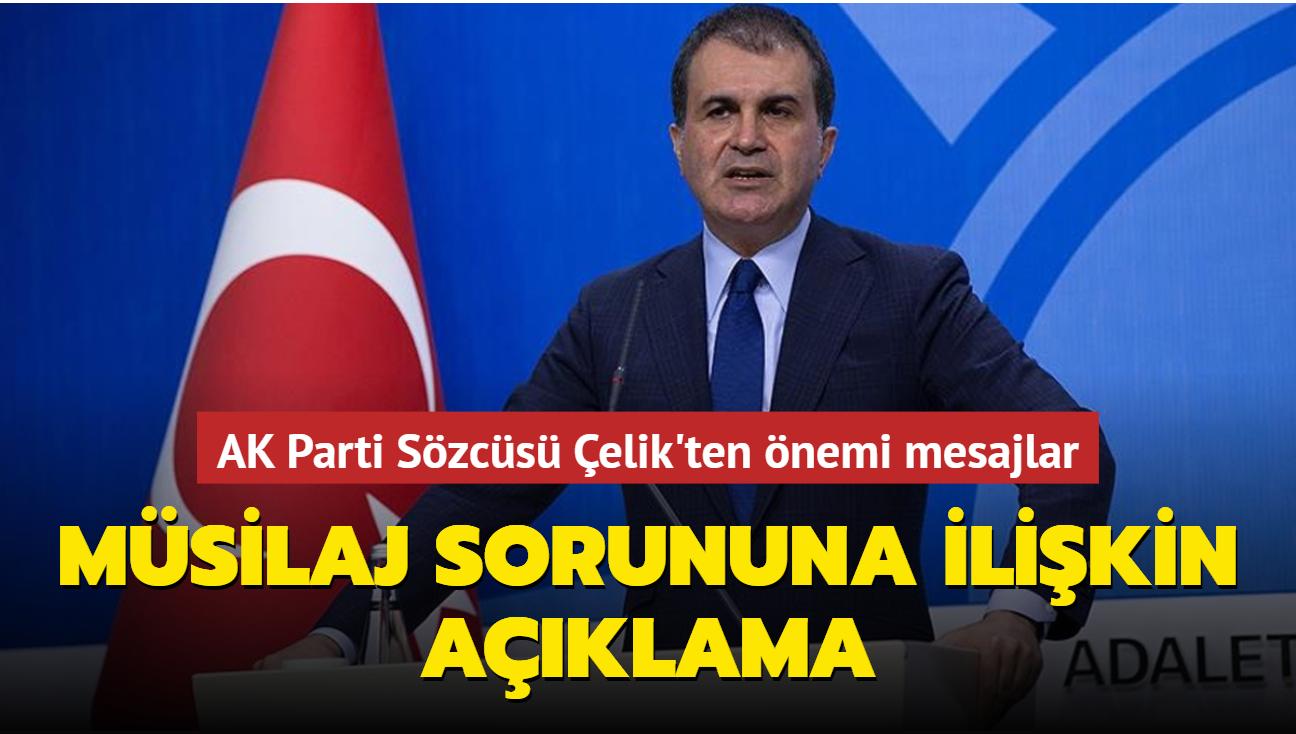 AK Parti Sözcüsü Çelik'ten müsilaj sorununa ilişkin açıklama
