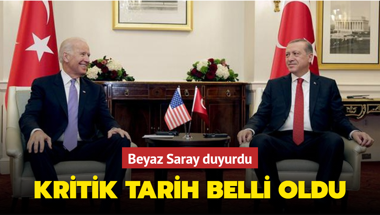 Son dakika haberi: Başkan Erdoğan ile ABD Başkanı Biden'ın görüşeceği tarih belli oldu