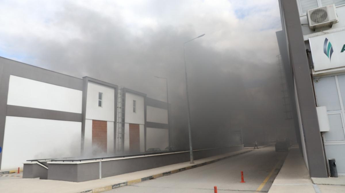 Ankara'da kimyasal madde fabrikasında yangın