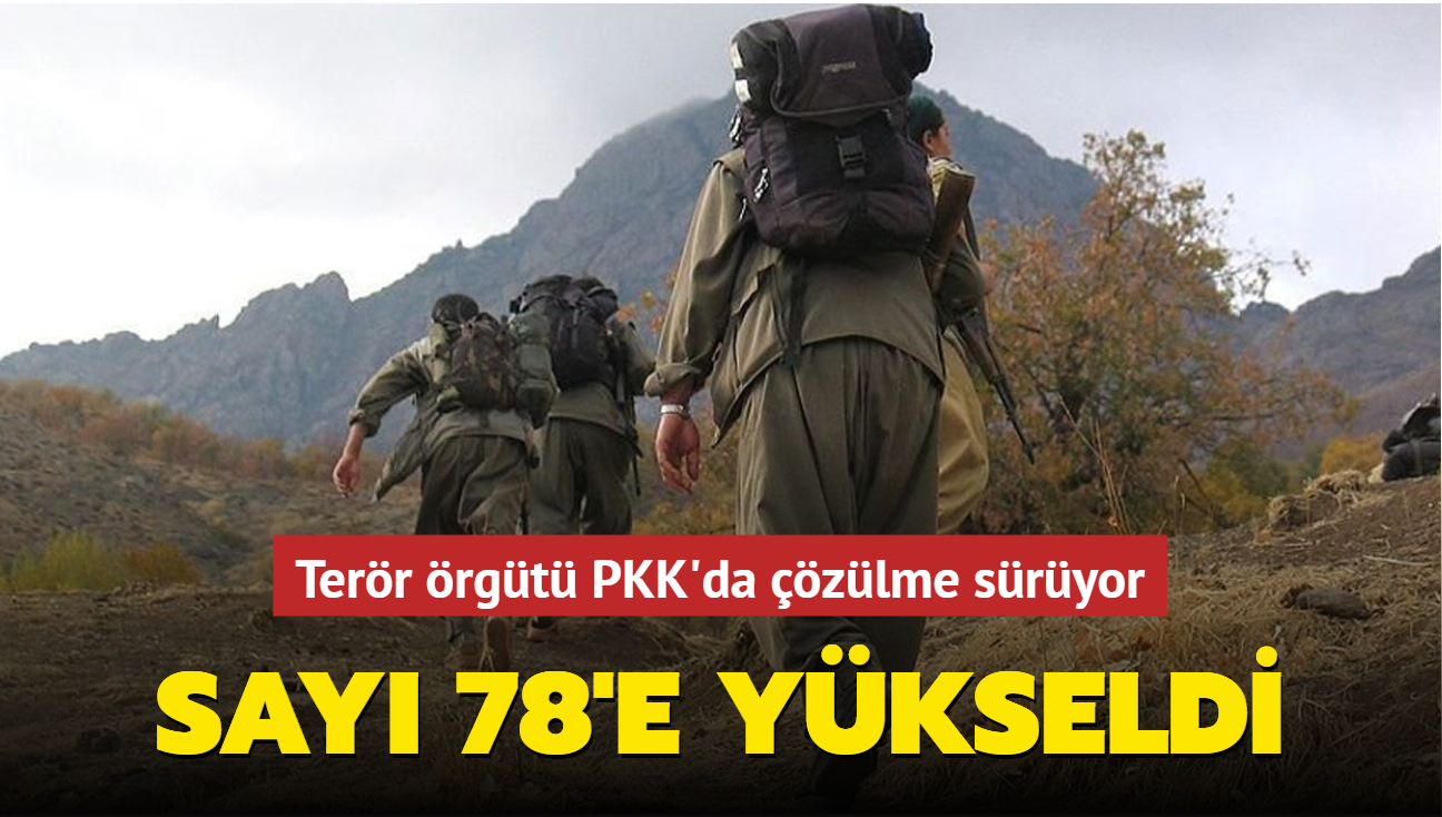 Terör örgütü PKK'da çözülme sürüyor... Sayı 78'e yükseldi